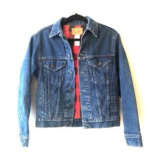 Vintage Gap Pioneer Jean Jacket w/ Buffalo Check